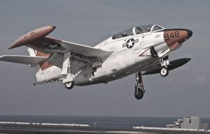 030716-N-4953E-031. (July 16, 2003) Onboard USS Harry S. Truman (CVN 75). A T-2C Buckeye, assigned to Fixed Wing Training Squadron Nine (VT-9,) performs a touch and go on the flight deck of USS Harry S. Truman (CVN 75). Truman is participating in CNTRA with Fixed Wing Training Squadrons to train new pilots in carrier take off and landing procedures. TRUMAN is conducting Carrier Qualifications (CQ) and an Ammo Off Load off the Eastern seaboard of the United States. US Navy Photo by: Photographer's Mate Second Class (AW/SW) Danny Ewing Jr.) (RELEASED) Releasing Authority LCDR Scott E. Norr, Photo Officer, USS Harry S. Truman (CVN 75), By Direction.