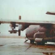 Ein Hercules-Transporter als Bomber