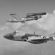 Gloster Meteor jagt die V-1